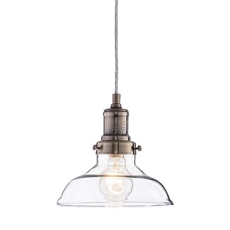 Mini Vintage Clear Glass Pendant Light, Edison Industrial Design ...