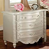 247SHOPATHOME IDF-7226N Childrens, nightstand, Pearl White