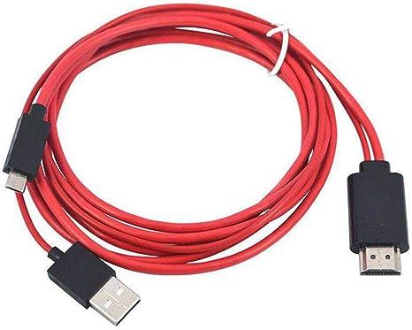 MHL - Cable Adaptador de USB a HDMI (1080P, MHL, Micro USB a HDMI HD, Adaptador de Cable de TV para teléfonos Inteligentes Samsung Android): Amazon.es: Electrónica