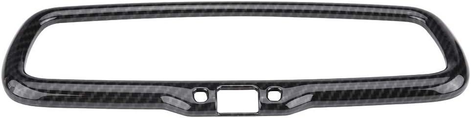 Qiilu Car Interior Inner Rearview Mirror Frame Cover Trim for Alfa Romeo Stelvio/Giulia
