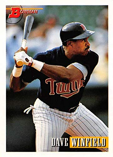 1993 Bowman Baseball #565 Dave Winfield Minnesota Twins Official MLB Trading Card Produced By Topps
