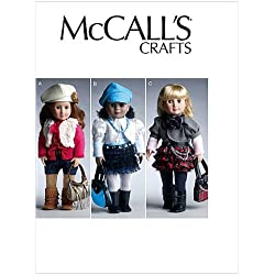 "McCall's Patterns M6480 18"" (46cm) Doll Clothes and Accessories, One Size Only"