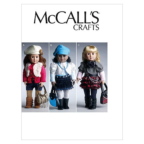 """Mccall Pattern McCall's Patterns M6480 18"""" (46cm) Doll Cl..."""