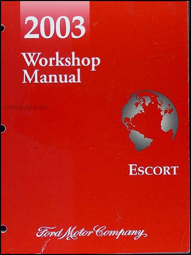 2003 Ford ZX-2 Escort Repair Shop Manual Original