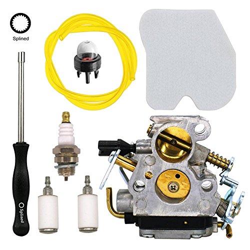 NIMTEK Carburetor with Screwdriver Air Filter for Husqvarna 235 235E 236 236E 240 240E Chainsaw Jonsered CS2234 CS2238 CS2234S CS2238 replace 574719402 545072601 by NIMTEK