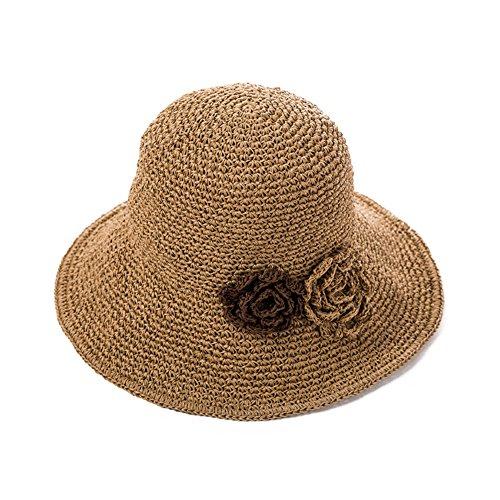 Verano Del Huiyue B Plegable Visera Casquillo sombrero Paja Playa De Protección Gorra xRRqrwzY