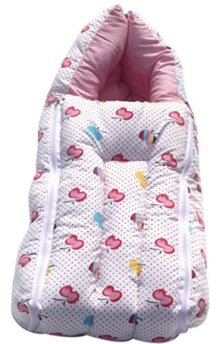 Amardeep And Co Baby Sleeping Bag Cum Baby Carry Bag (Pink)   CT