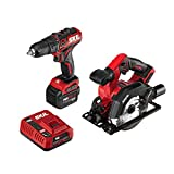 SKIL 2-Tool Kit: PWRCore 12 Brushless 12V 1/2 Inch Cordless Drill Driver and 5-1/2 Inch Brushless Circular Saw, with 4.0Ah Lithium Battery and PWRJump Charger - CB742701
