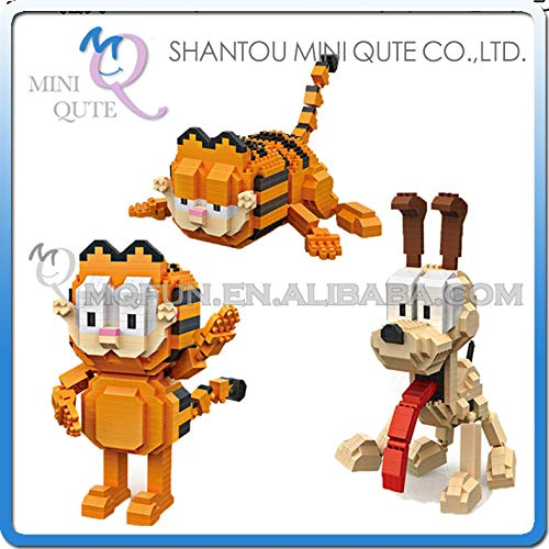Mini Qute Loz I American Movie Cartoon Cat Dog Animal Odie Plastic Building Blocks Action Figures Educational Toy Must Have Gifts Gift Ideas The Favourite Superhero Cupcake Toppers Unboxing Toys