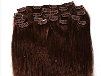 Amazon 20 inch silky straight clip on in human hair 20quot inch silky straight clip on in human hair extensions 10pcs 100g pmusecretfo Images