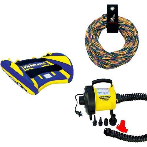 Airhead Slide Towable - Airhead Matrix V-2 Rope and Pump Bundle