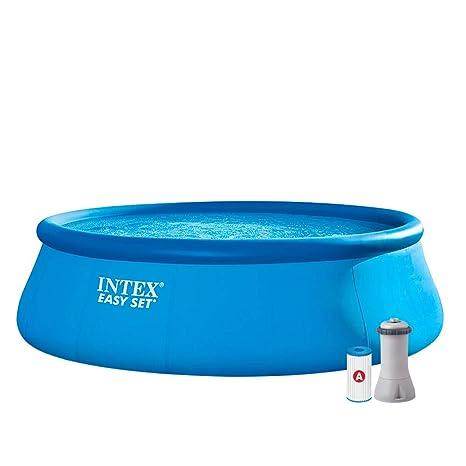 Intex 26168NP Piscina hinchable, con depuradora, 14.141 litros, 457 x 122 cm