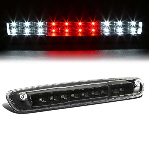 For Chevy Silverado/GMC Sierra GMT900 High Mount Dual Row LED 3rd Brake/Cargo Light (Black Housing Clear Lens)