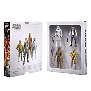 STAR WARS Digital Release Commemorative Collection Box Set - Episode 4 A New Hope - Han Solo, Chewbacca, C-3PO, Stormtrooper (pack of four 3.75 inch action figures)