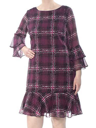 - Jessica Howard Womens Petites A-Line Ruffled Cocktail Dress Purple 6