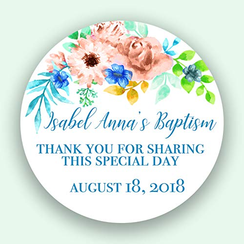 or First Communion Labels Christening Favor Labels CUSTOM Christening Thank You For Sharing My Special Day Baptism