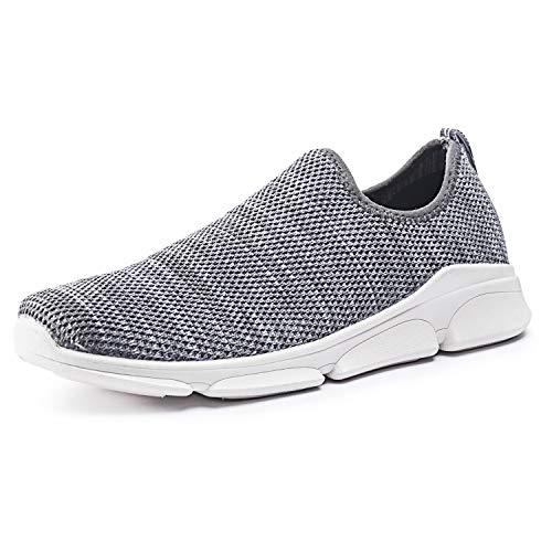 RongXing Womens Sneakers Lightweight Breathable Slip On Sports Shoes Casual Walking Footwear Indoor Outdoor Size 7-11 (US 11, Gray)