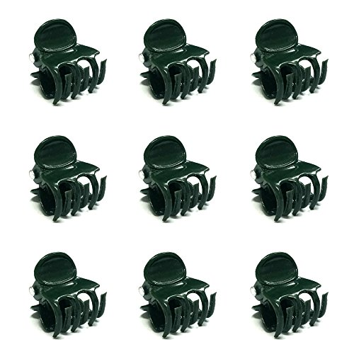 KINGLAKE Orchid Clips,Garden Flower Vine Clips,Plant Support Clips,100 Pcs Garden Cymbidium Clips to Keep Plant Neat and Healthy,Dark Green (97530)