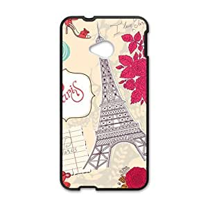 Canting_Good Vintage Paris France Paris Eiffel Custom Case Shell Skin for HTC One M7(Laser Technology)