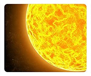 Outer Space Design Rectangular Mouse Pad Flaming Planet