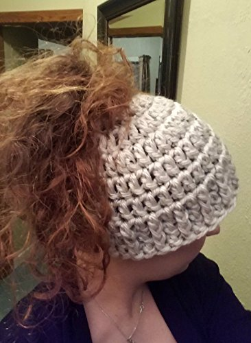 Amazon.com  Messy Bun Ponytail Hat - Essential Collection by Shay s Crochet  Creation  Handmade a2f93481078