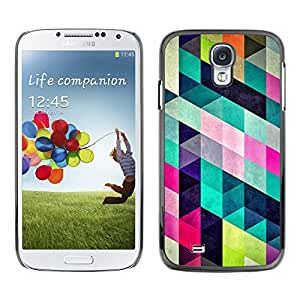 X-ray Impreso colorido protector duro espalda Funda piel de Shell para SAMSUNG Galaxy S4 IV / i9500 / i9515 / i9505G / SGH-i337 - Pattern Design Fashion Colorful