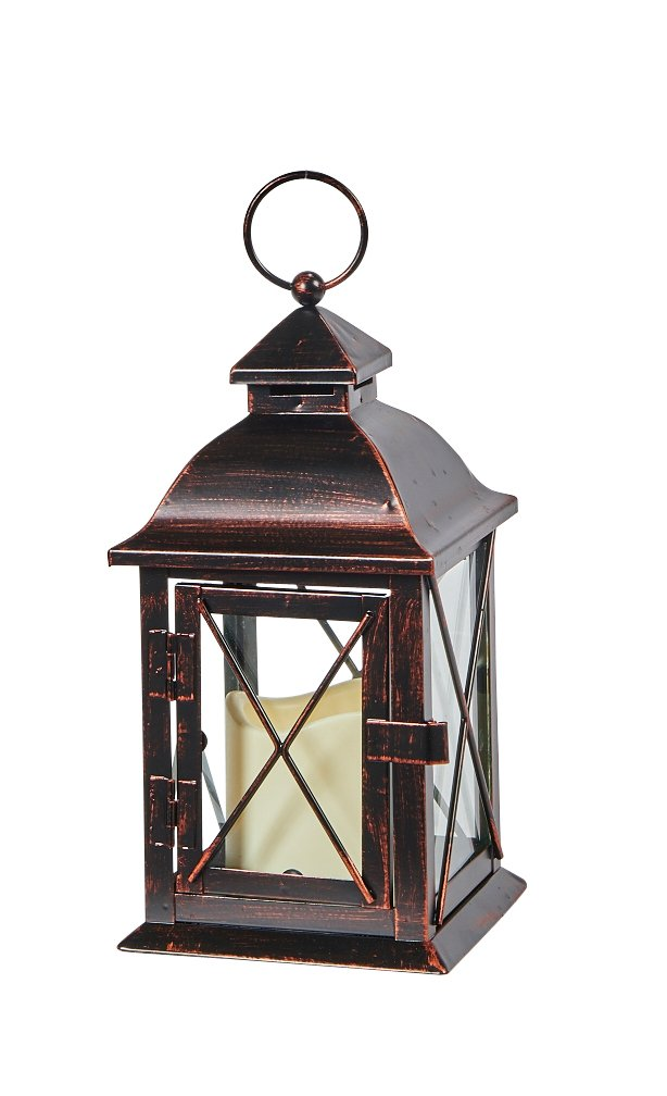 Aversa Small Metal LED Candle Lantern