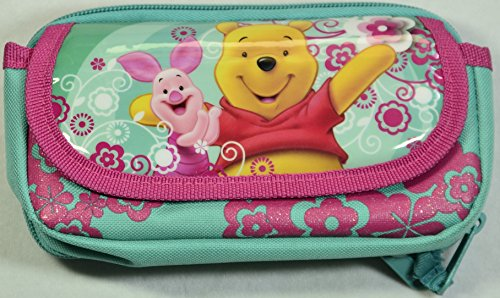 ARS UNA Gürteltasche Winnie Pooh türkis # Gürtelschlaufen # aufwendige Gummi-Applikationen # Außenmaße: 10,5 x 5 x 16 cm (B x T x H)