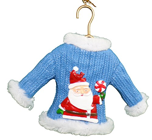 Midwest-CBK Resin Ugly Sweater Ornament - Santa