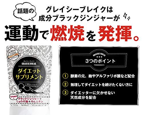 Japanese Popular Diet Supplement Graisse Break 30days(60tablets) by Graisse Break (Image #2)