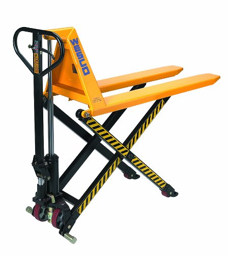 Wesco-272754-Manual-High-Lift-Telescoping-Pallet-Truck-with-Loop-Handle-Polyurethane-Wheels-2200-lbs-Load-Capacity-48-12-Height-44-12-Length-x-27-Width