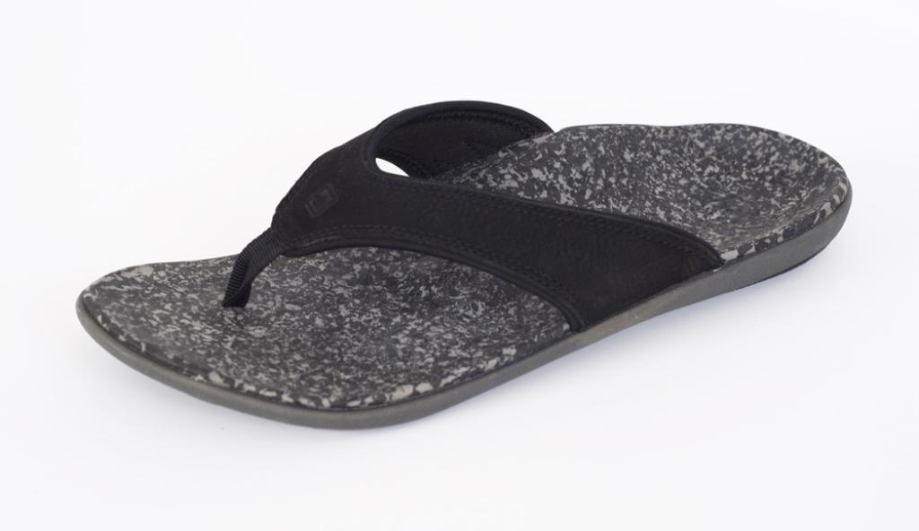 Spenco Men's Yumi Leather Sandal, Black 13M Medium US