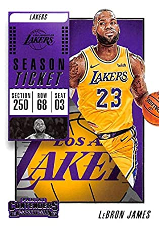3db22a78f6d 2018-19 Panini Contenders Season Ticket #30 LeBron James Los Angeles Lakers  NBA Basketball