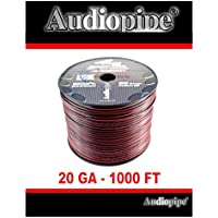 20 Gauge 1000 Speaker Cable Wire Copper Clad Red Black 12 Volt Audiopipe