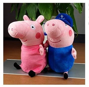 JFY Peppa Pig familia del cerdo de peluche de juguete establece el abuelo y la abuela
