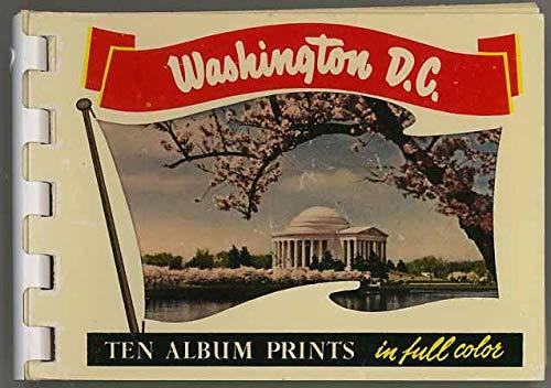 Washington D.C. - Miniature Souvenir Postcard Photo Album - Plastic Comb