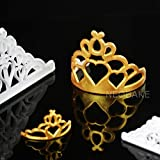 2pcs Crown Set Plastic Fondant Cutter Cake Mold Biscuit Cookie Cupcake Decorating Tools Sugarcraft Cake Topper Bakeware