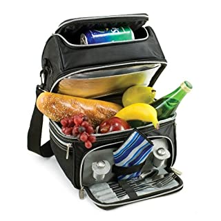 PRANZO SOLO Lunch Box w/ Flatware & Napkin, Black Silver (B000BC8ACC) | Amazon price tracker / tracking, Amazon price history charts, Amazon price watches, Amazon price drop alerts