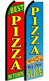 pizza by the slice King Swooper Feather Flag Sign Pack of 20 hardware not included