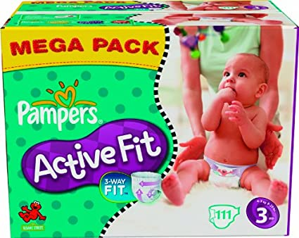 Pampers – 81337205 – Active Fit – Pañales – Talla 3 midi 4 – 9 kg