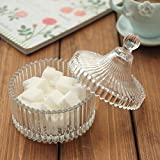 All For You Elegant Crystal Glass Candy Jar/ Glass Candy Container (Medium)