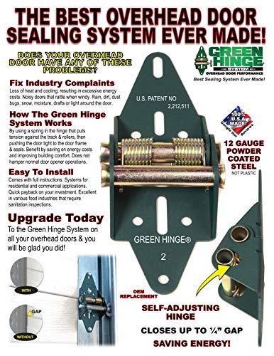 Energy Saving Garage Door Hinge - Commercial Set - 5 panel door