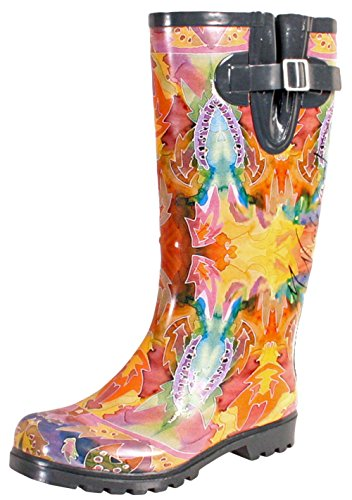 Nomad Women's Puddles III Rain Boot, Indian Autumn, 8 M US