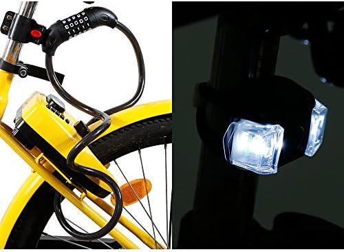 Zacro Candado de Bicicleta Seguridad Cable de Bloqueo de 5 Dígitos Restable Combinación para la Bicicleta al Aire Libre con 1 Luz LED de Bicicleta Gratis (Negro): Amazon.es: Deportes y aire libre