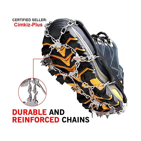 Crampons Ice Cleats Traction Snow Grips for Boots Shoes Women Men Kids Anti Slip...
