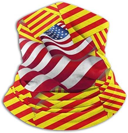 Bandera de Cataluña con America Bandera Calentador de Cuello Bufanda Polaina Mascarilla Bandanas Invierno Al Aire Libre Deportes: Amazon.es: Deportes y aire libre