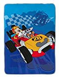 Jay Franco Disney Junior Mickey Mouse and The Roadster Racers Plush 62' x 90' Twin Blanket