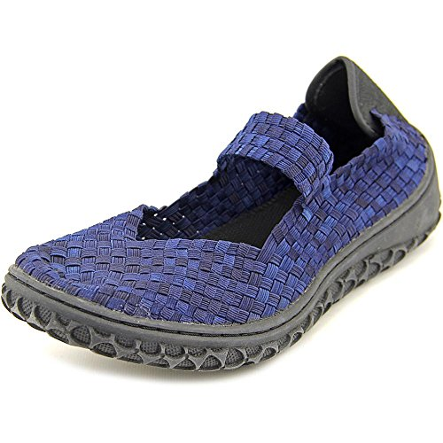 Kurketten Dames Liz Mode Geweven Platte Schoenen Schoenen Blauw