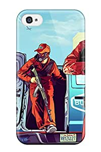 Iphone 4/4s Case Cover - Slim Fit Tpu Protector Shock Absorbent Case (gta) 5076455K21013676