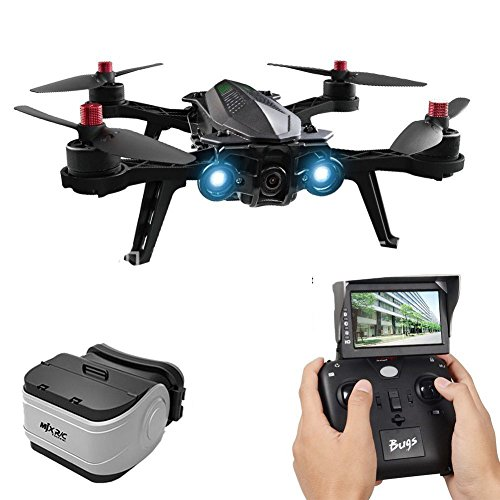 MJX Bugs 6 B6 Foldable Drone High Speed Motor Brushless RC Racing Drone Pre-assembled RTF Quadcopter (with camera/monitor/ goggles)